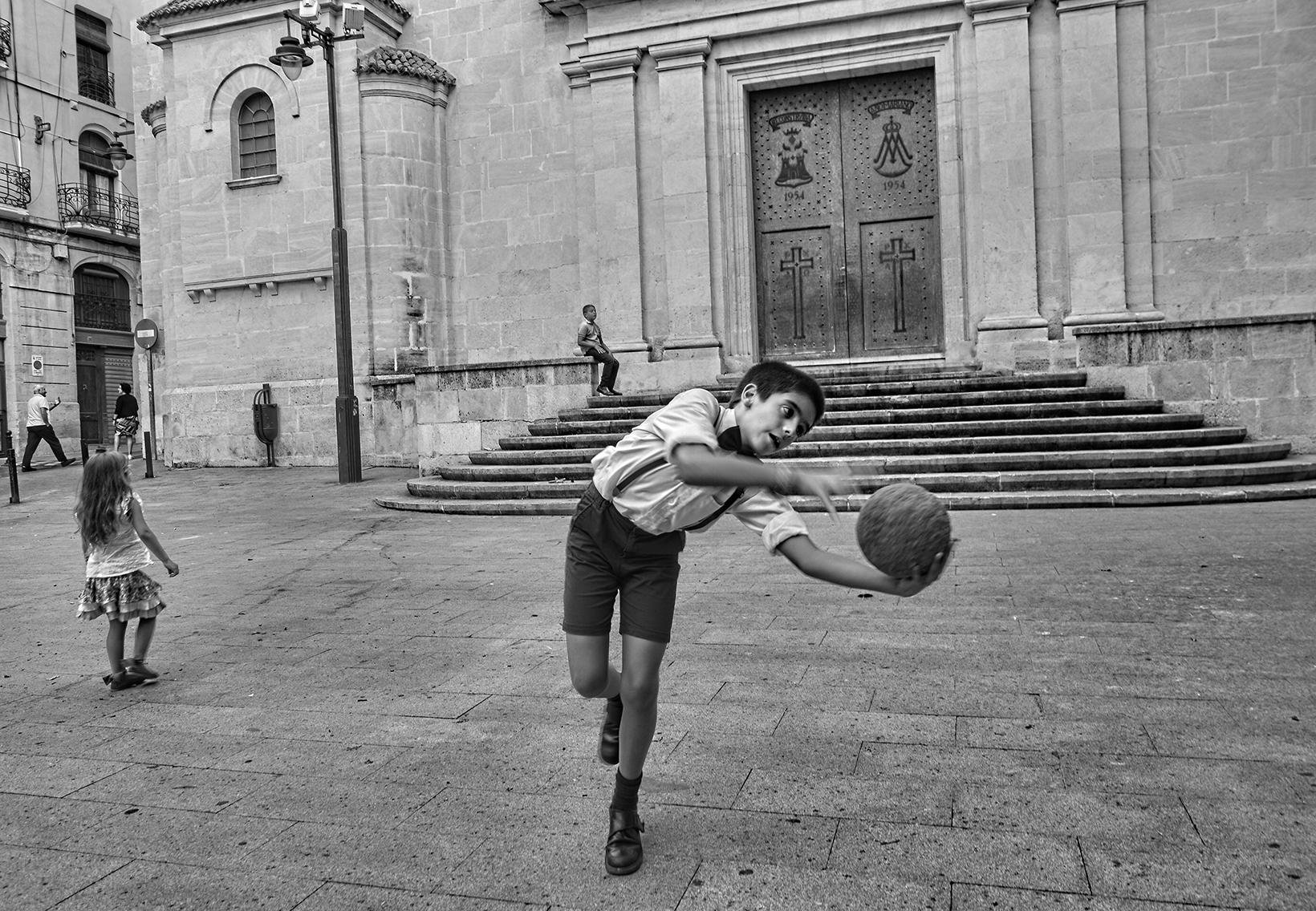 Jugando en la calle