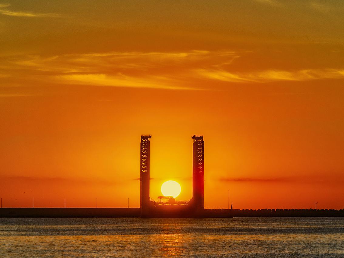 Amanecer en el Puerto de Alicante